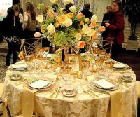 african wedding table setting