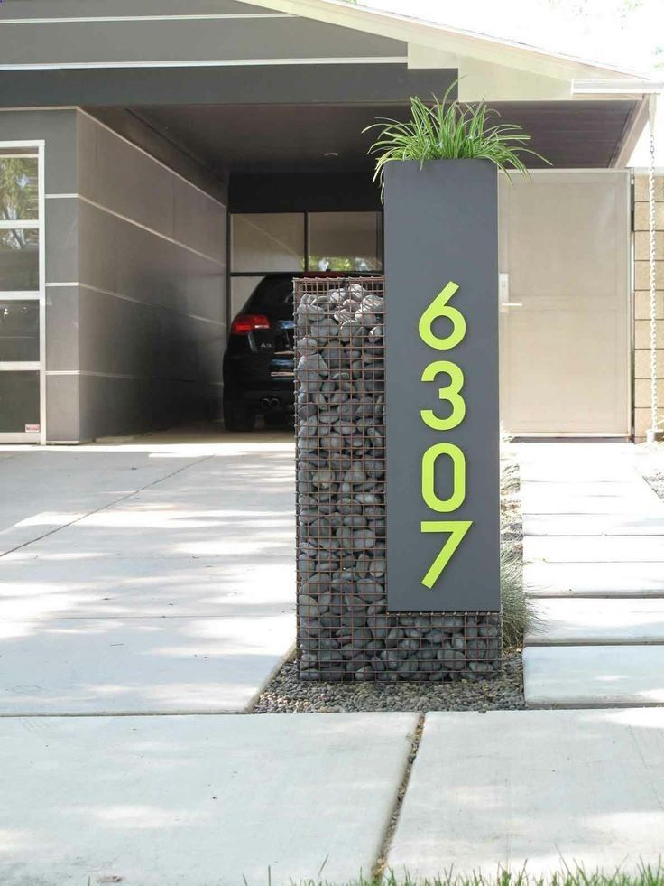 Custom Gabion Mailbox And House Numbers In The Phoenix Area