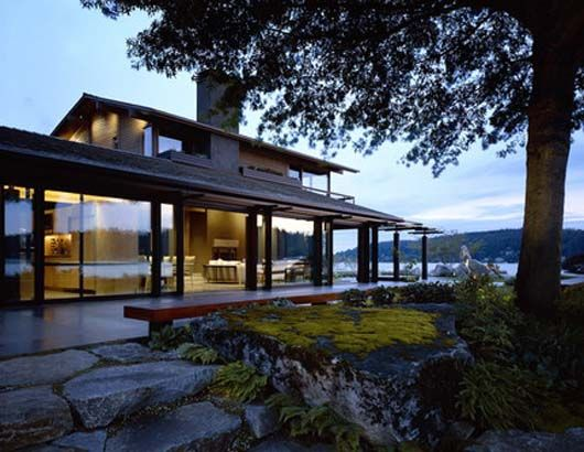 Modern Lake House Designs Modern Lake House Design With