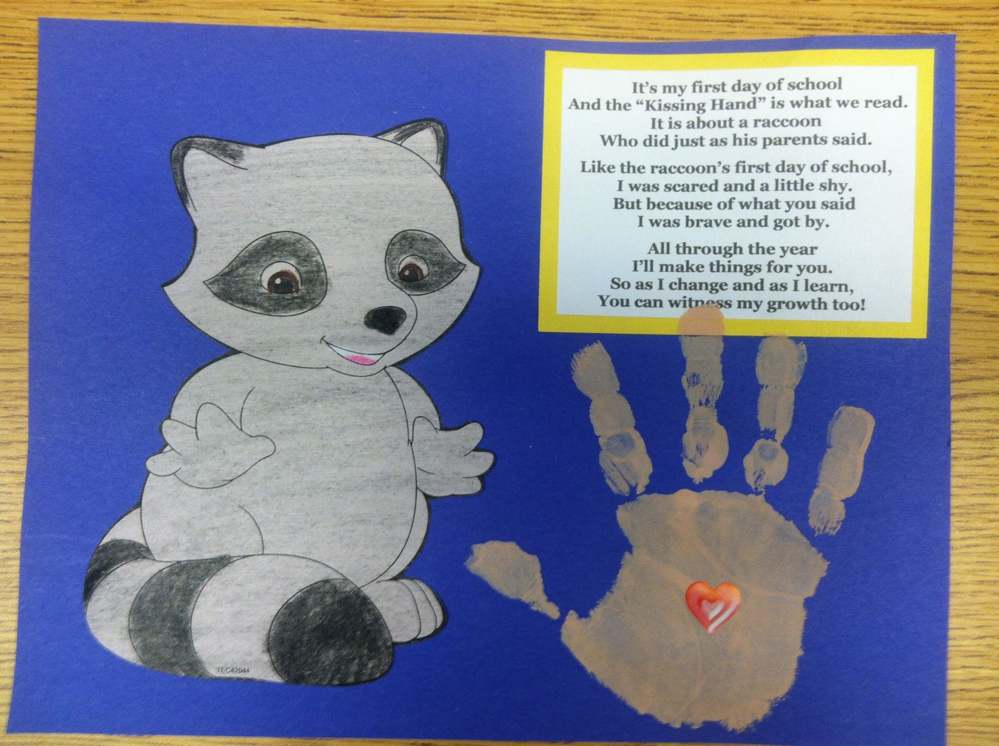 Raccoon Chester The Kissing Hand Arts Amp Crafts Project