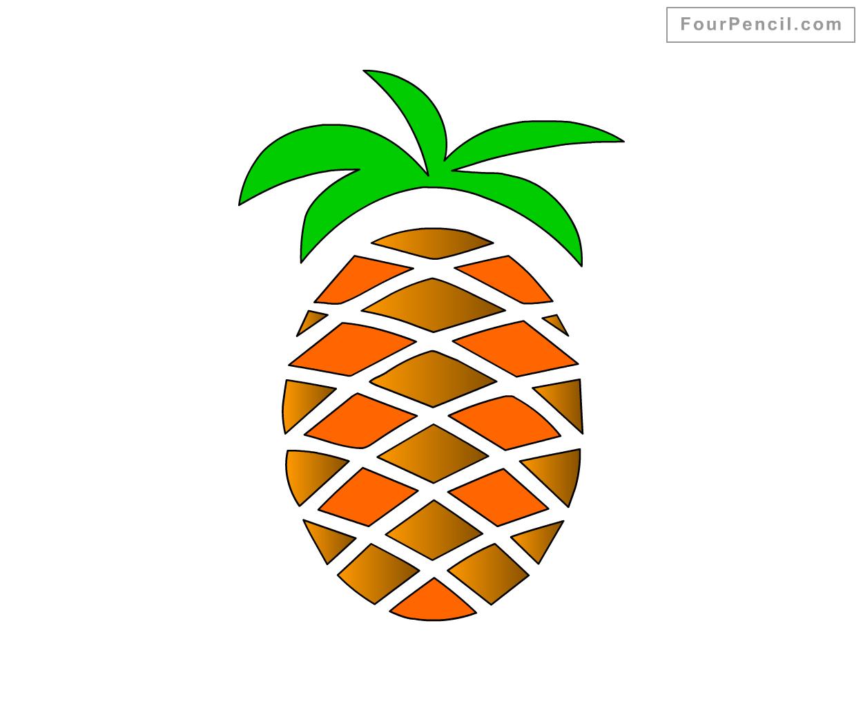 Cute Easy Pineapple Drawing Cute Seamless Pineapple Pattern