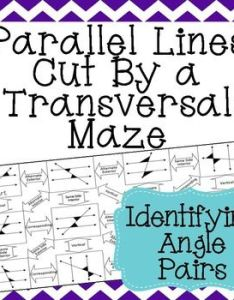 Identifying alternate interior exterior same side corresponding and vertical angles in parallel lines cut by transversals also  transversal maze angle pairs rh pinterest