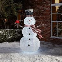 Outdoor Christmas Decoration Pop Up Snowman Holiday Yard
