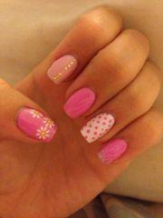 holiday nails. #pretty #pink #summer