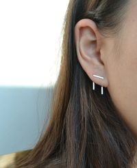 Double Pierced Earrings on Pinterest