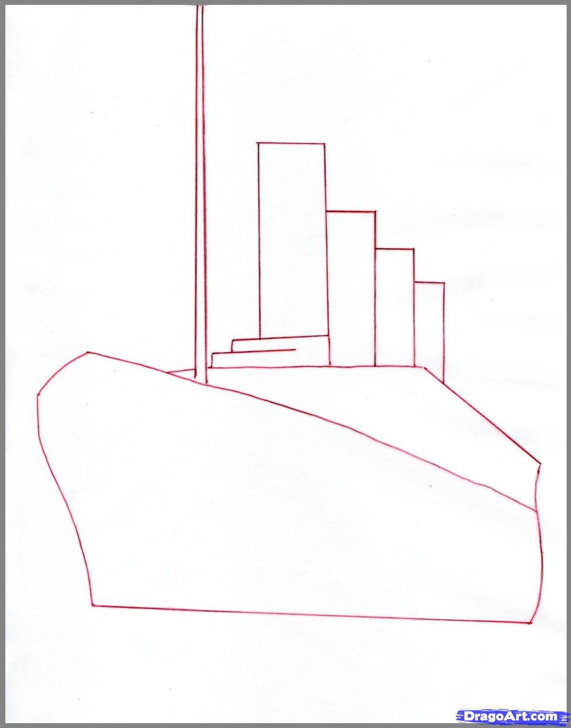How To Draw The Titanic Difficult