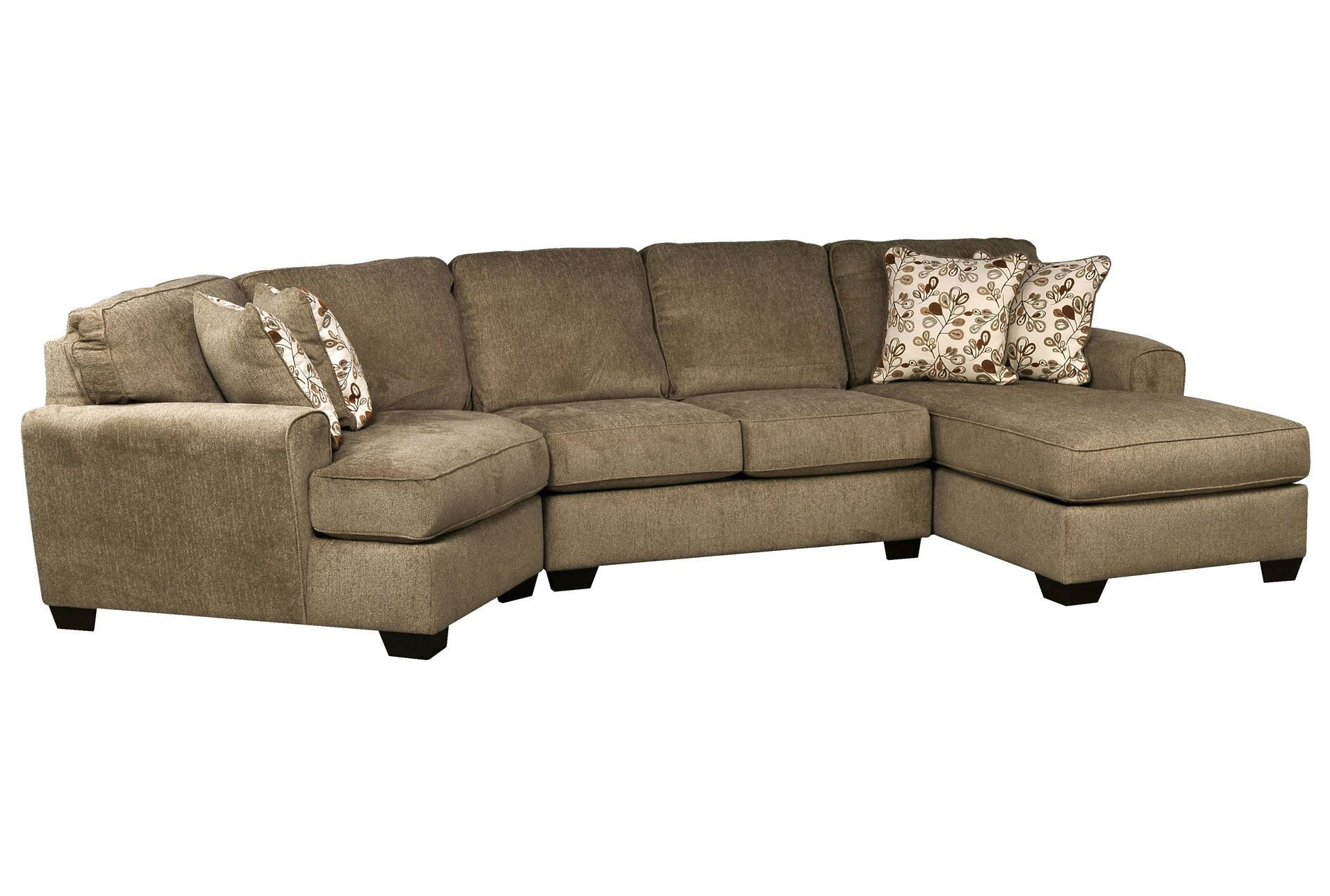 sofa with cuddler and chaise floor lamp sofaworks patola park 3 piece sectional w raf cornr