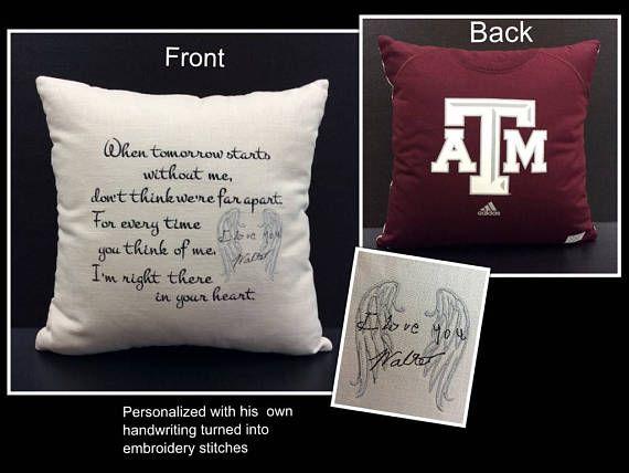 Memory Pillow Shirt Pillow Sympathy Gift Memorial Gift