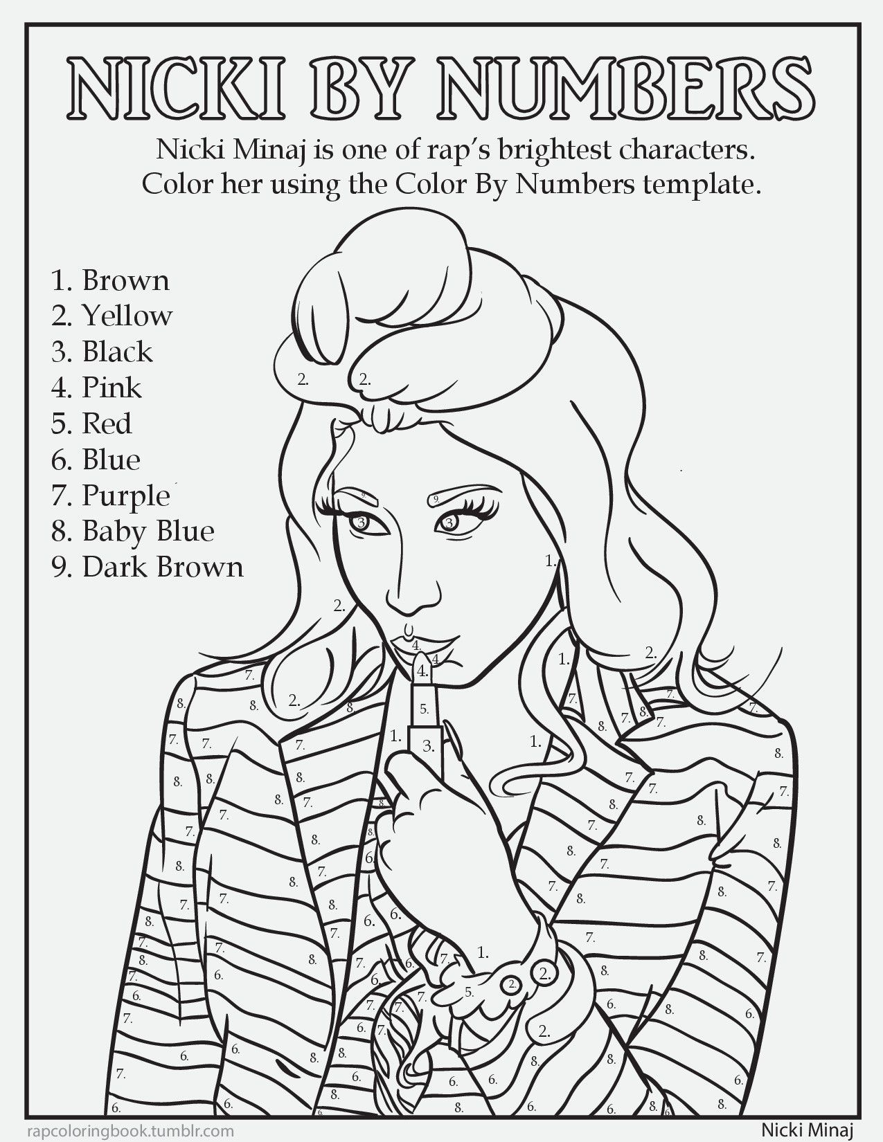 Rap Music Coloring Book The Artist Who Is Doing This Very Funny And
