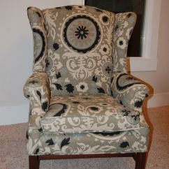 How To Recover Dining Room Chairs With Piping Used Salon Chair Reupholster A Wingback