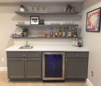 Finally finished basement bar! Unfinished cabinets, IKEA ...