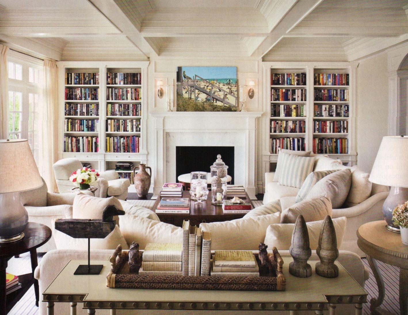 Hampton Style Family Room De Hampton Design Interieur Grande