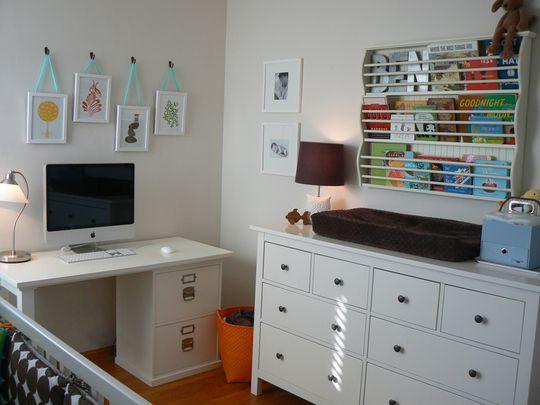 Nursery Office Combo on Pinterest  Small Baby Rooms