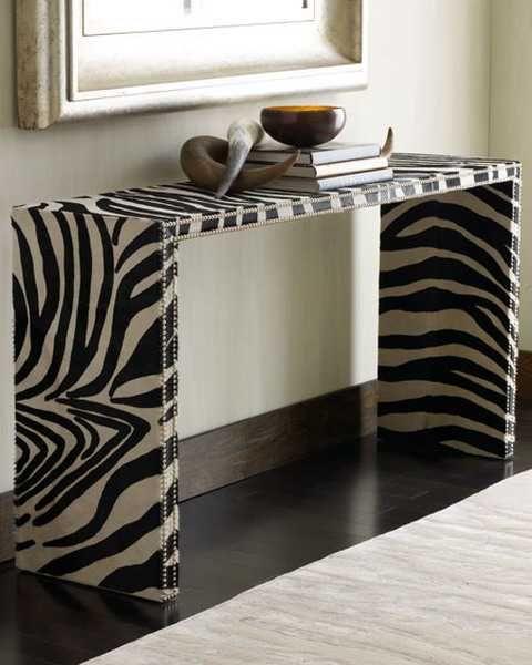Zebra Print Home Decor Decor Pinterest Consoles Shabby Chic