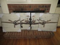 New Pottery Barn Planked Airplane panels sign wall art ...