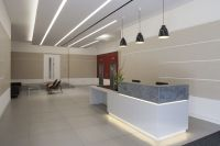 overclad existing reception desk - Google Search | Office ...