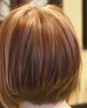 tri color short hairstyles hair