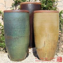 Tall Planters Rustic Jar Large Tapered Planter