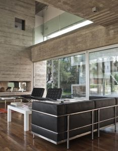 Bak arquitectos embeds water courtyard into torcuato house also eileen grey and concrete interior design pinterest gray rh