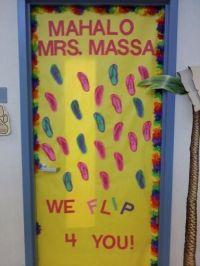 flip flops classroom door decorations | Hawaiian Flip Flop ...