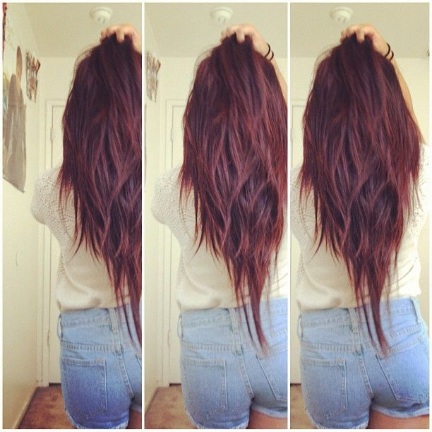 V Cut Long Hair Thinking About This Color And Cut! <3 Hair