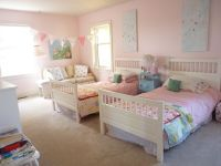 a shabby chic bedroom for twin girls