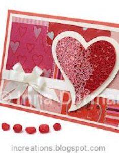 Quilled valentine   day cards also paper crafts pinterest rh za