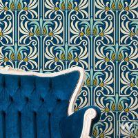 Art Nouveau Feather Damask Removable Wallpaper   Wall ...