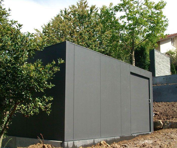 Design Garten Und Gerätehaus Metall Gartenideen Pinterest