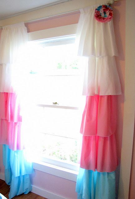 DIY Curtains Cute For A Little Girl's Room Matches Brylees