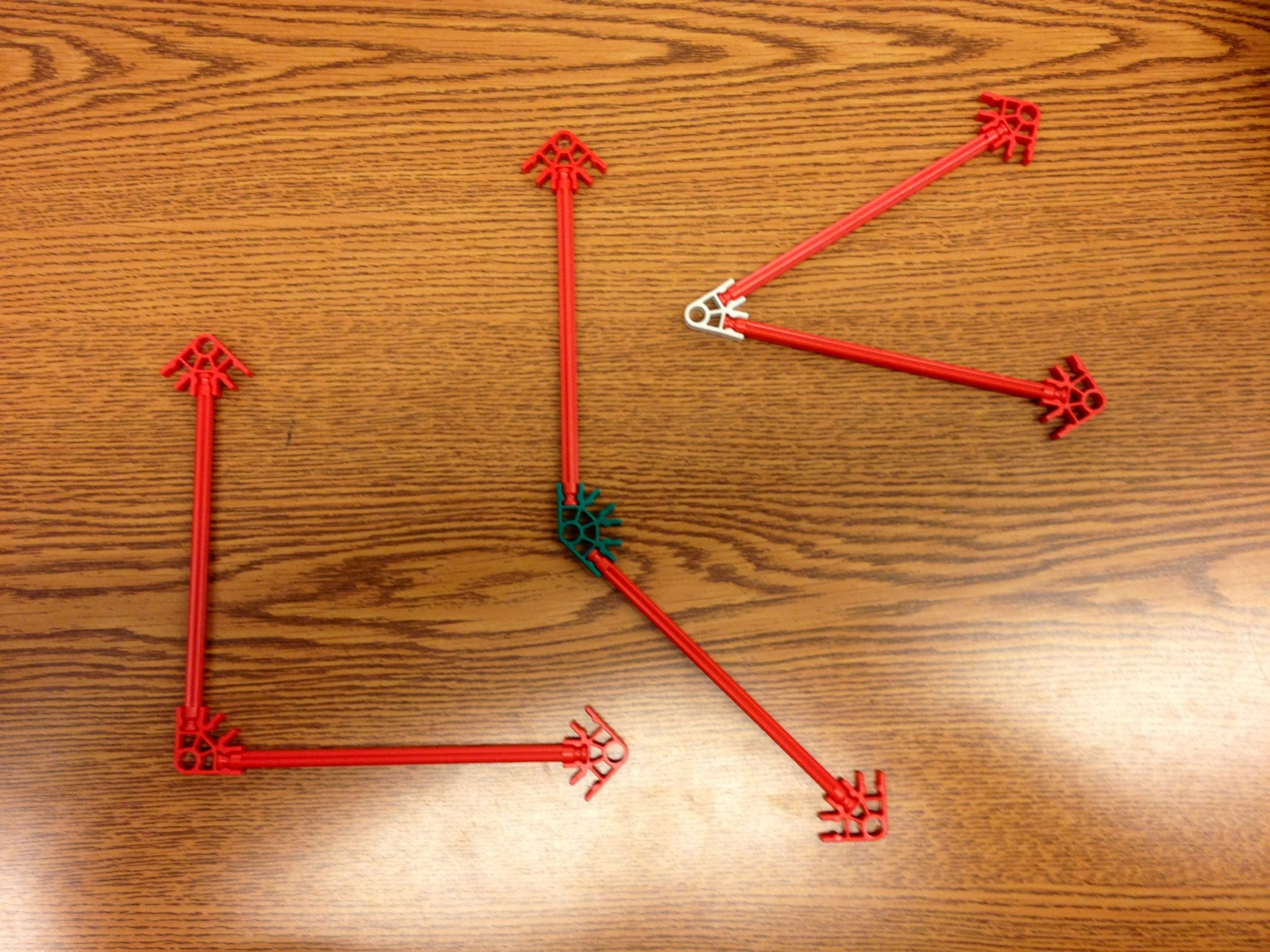 Angles With K Nex 4 G 1 Geometry Draw And Identify Lines