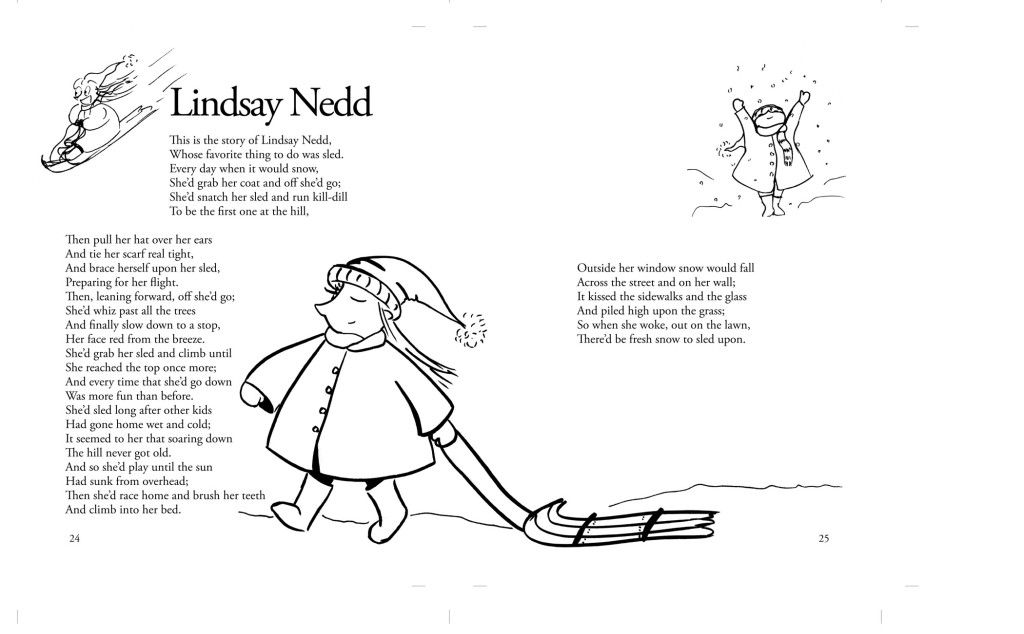 Children's Poem about sledding. Great for school and