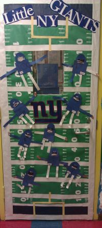 Football themed classroom door