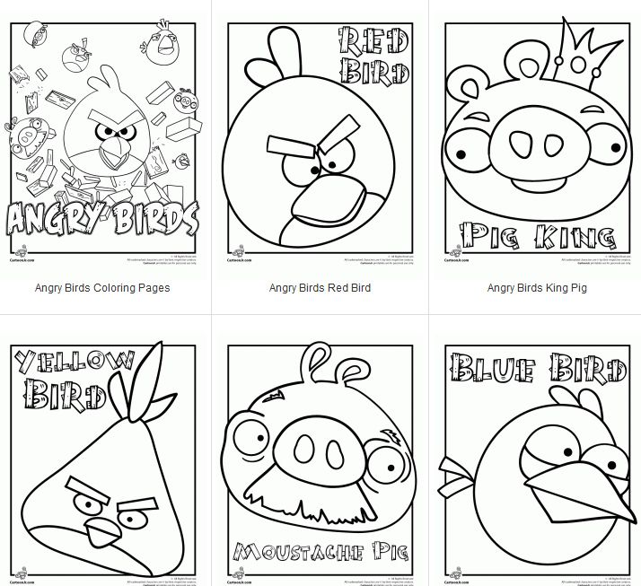 Angry Bird Coloring Pages: I could get my students to