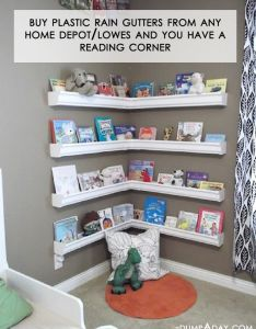 Diy kids space reading nook rain gutter kid   bookshelves this could be the best re purposing project  have seen so far what  great idea and books also images about dj on pinterest home projects notebook rh in