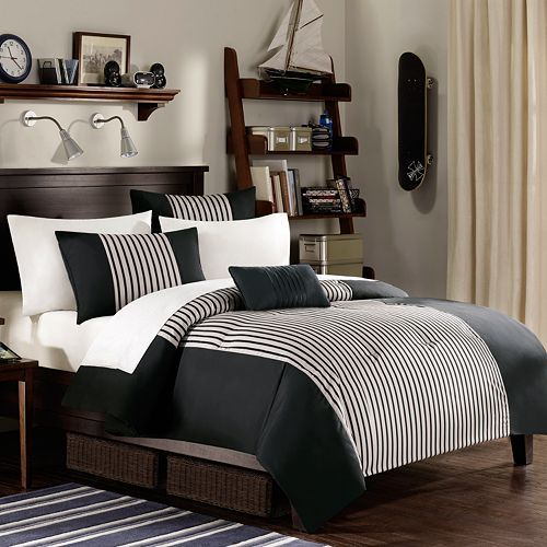 Maybe this for zion   new bedroom decorsculine bed linen color scheme simple teen boy also black white gray decor design idea dorm elegant rh pinterest