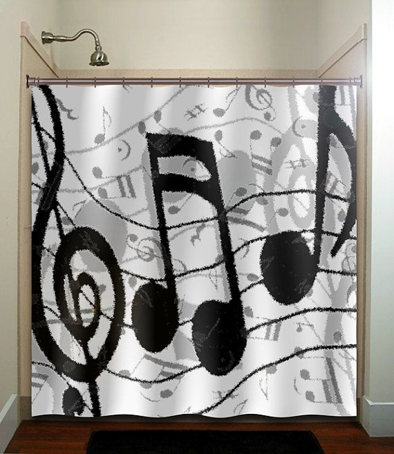 Treble Clef Sheet Music Notes Shower Curtain Unique Shower