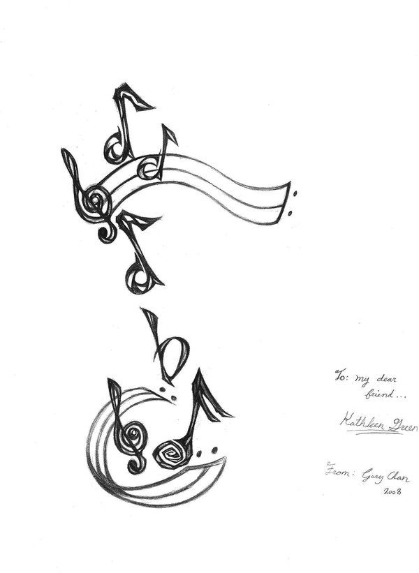 Some people also love to use Music Notes Tattoo Designs