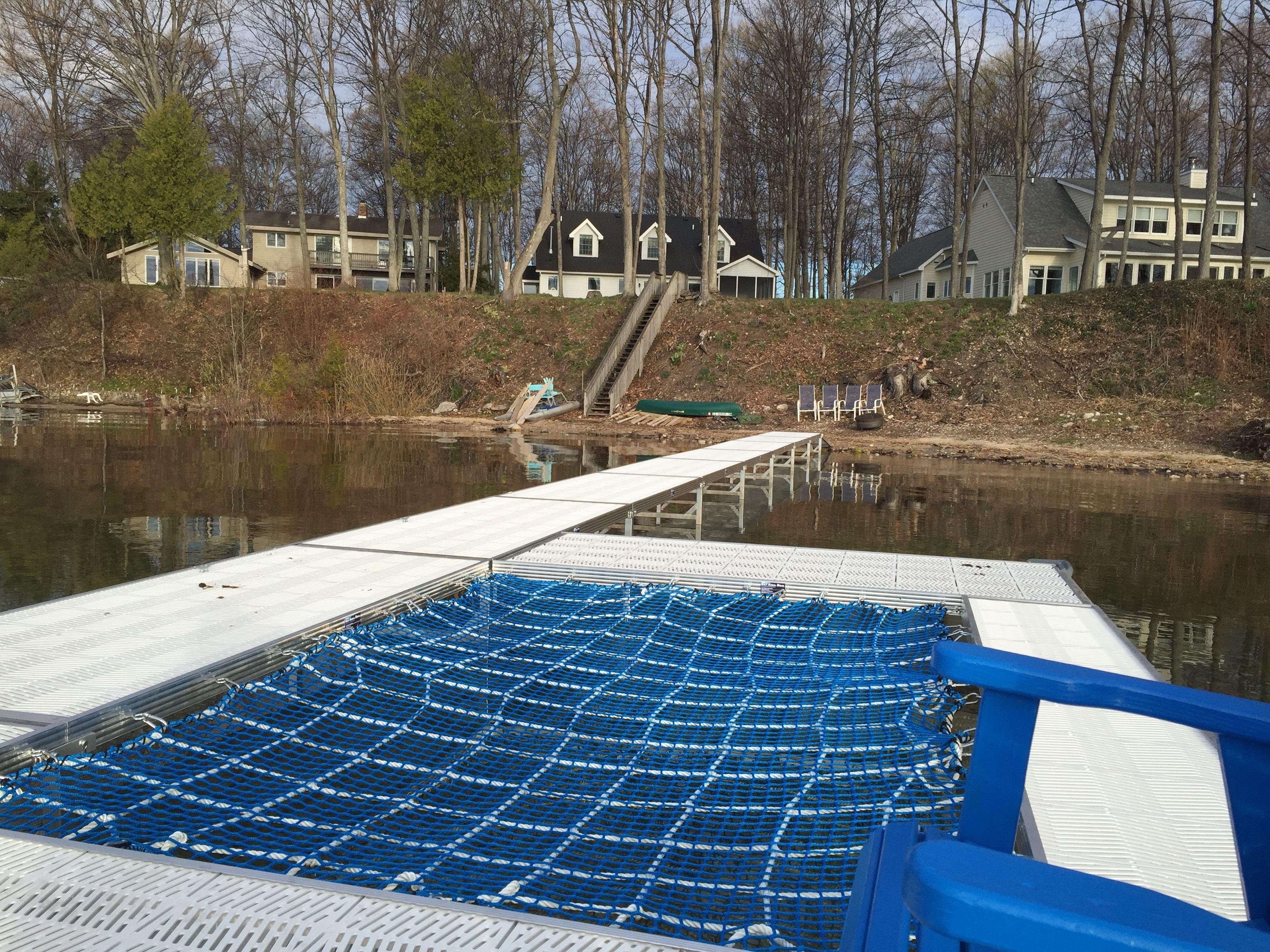 Installed A Custom Made Dock With Hammock Catamaran Net To