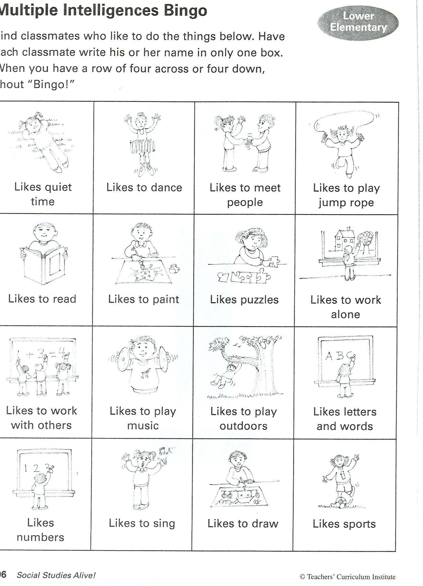 8 Intelligences Activities