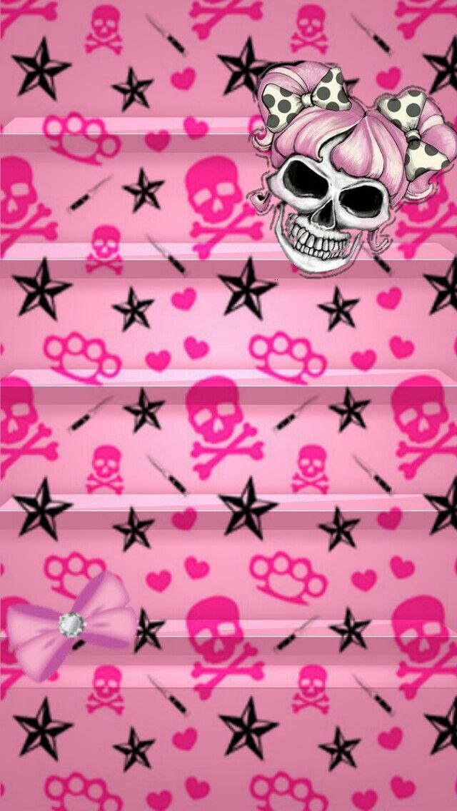 Cute Lip Kiss Wallpapers Skulls Pretty Pink Wallpaper Amp Lock Screens Pinterest