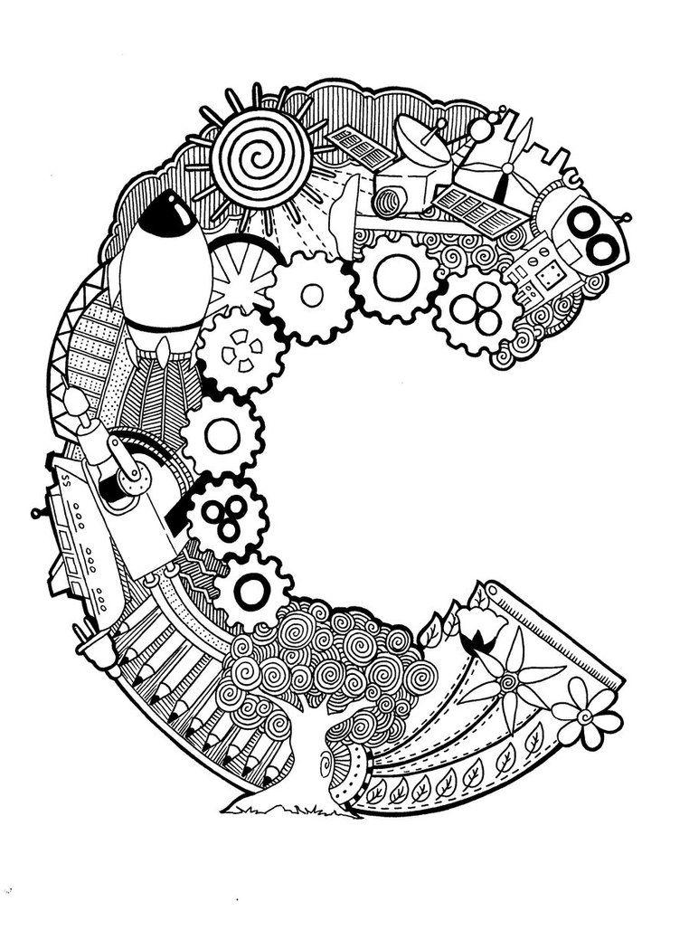 Doodle: The Letter C by PsychoKIRA.deviantart.com on