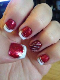 Festive Christmas nail design | Beauty | Pinterest | Nail ...