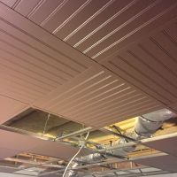 Suspended Ceiling/Drop Ceiling grid painted with Bead