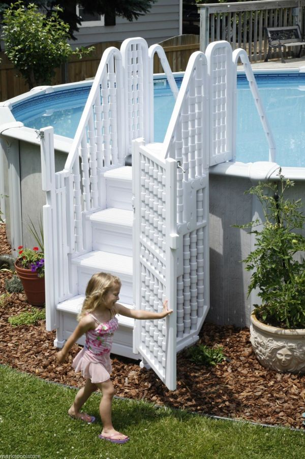 Easy Pool Step Complete Entry System With Gate Above Ground Swimming Pools