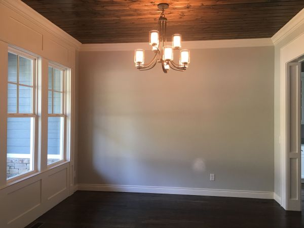 Benjamin Moore White Dove Images with Oak Trim Wall