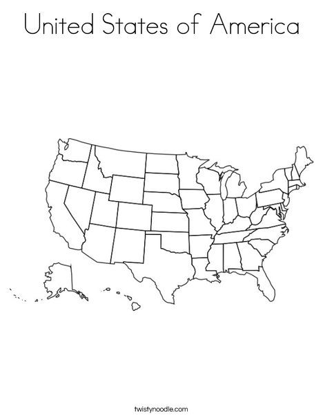 United States of America Coloring Page from TwistyNoodle