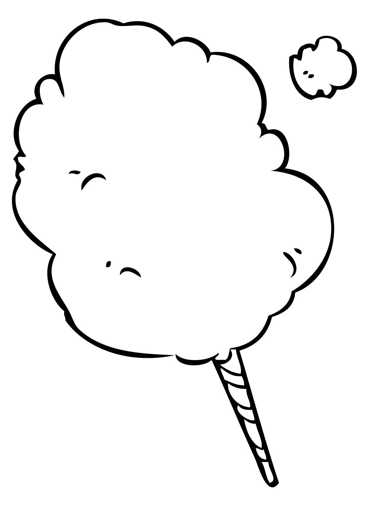 Cotton Candy Coloring Pages 74 Free Printable Coloring