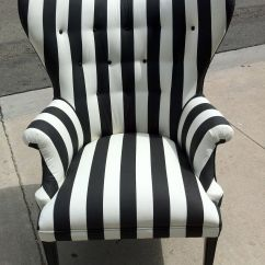 Black White Striped Chair Diy Bedroom Hanging And By Poeticrockstar On Etsy