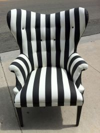 Black and White Striped Chair by poeticrockstar on Etsy ...